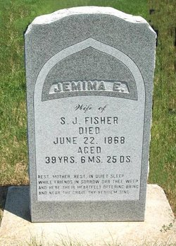 Jemima Elizabeth <I>Howell</I> Fisher