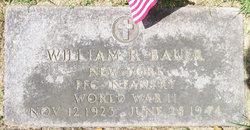 PFC William R Bauer