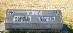 "Martha Anna ""Mattie"" <I>Griffin</I> Aly"