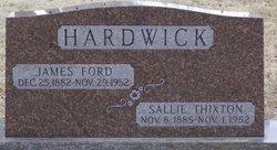 "Sarah Dickinson ""Sallie"" <I>Thixton</I> Hardwick"