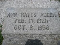Ann <I>Hayes</I> Albea