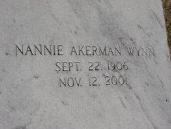 Nannie <I>Akerman</I> Wynn