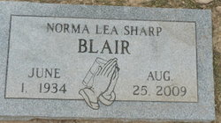 Norma Lea <I>Sharp</I> Blair