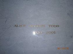 Alice Ruth <I>Martin</I> Todd