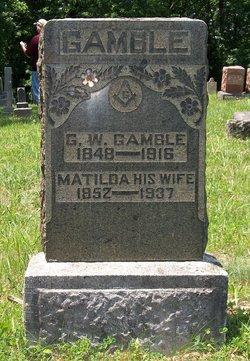 "Matilda Jane ""Tillie"" <I>Garriott</I> Gamble"