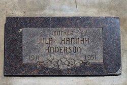 Lola Hannah <I>Mayoh</I> Anderson