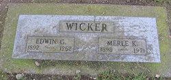 Edwin G Wicker