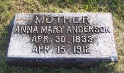 Anna Mary <I>Tatlow</I> Anderson