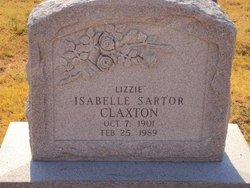 """Isabelle """"Lizzie"""" <I>Sartor</I> Claxton"""