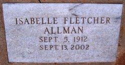 Annie Isabell <I>Fletcher</I> Allman
