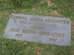 Jane <I>Bason</I> Abernethy