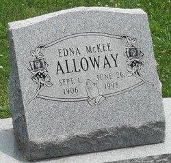 Edna <I>McKee</I> Alloway