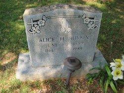 Alice H Boykin