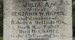 Julia A <I>Orr</I> Harris