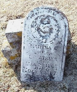 Martha E. <I>Wills</I> Atkins
