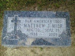 """Matthew John """"Oscar"""" Mier"""