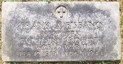 Pvt Frank A Bisbano