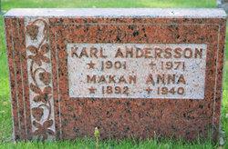 Anna Ingeborg Henrietta <I>Johansson</I> Andersson