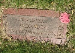 John Merriam Alexander