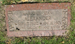 Marjorie Jean Alexander
