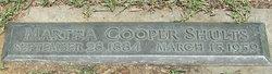 Martha C. <I>Cooper</I> Shults