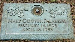 Mary <I>Cooper</I> Fazakerly
