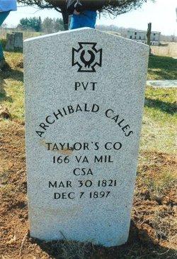 Pvt Archibald Cales