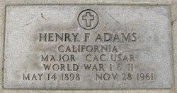 Maj Henry Fayette Adams
