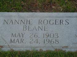 Nannie <I>Rogers</I> Beane
