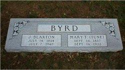 Mary Tennessee <I>Tune</I> Byrd
