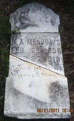 "Marcus Alexander ""M.A."" Meadows"