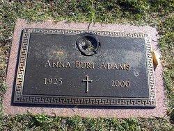 Anna <I>Burt</I> Adams