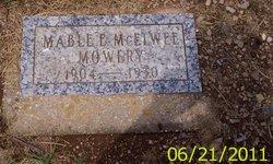 Mabel E <I>Mcelwee</I> Mowery