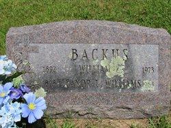 Eleanor L <I>Williams</I> Backus