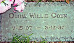 Ouida Willie <I>Mills</I> Oden