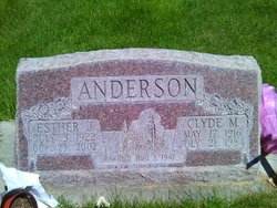 Esther Law <I>Jackson</I> Anderson