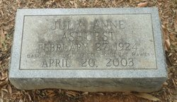 Julia Anne <I>Hawes</I> Ashurst
