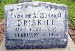 Caroline A <I>Sunman</I> Driskill
