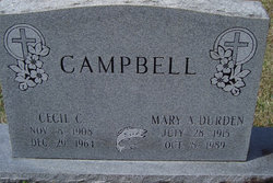 Mary A <I>Durden</I> Campbell