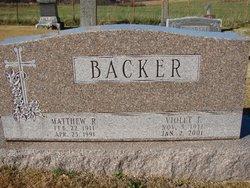 Violet F <I>Beckman</I> Backer
