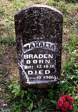 Mahala <I>Tedford</I> Braden