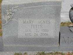 Mary Agnes <I>Tuten</I> Manes