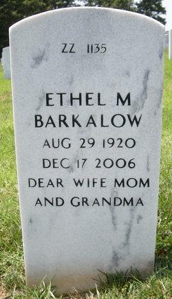 Ethel M <I>Nagle</I> Barkalow