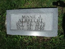 """Wilhelmina J. """"Minnie"""" <I>Schrorer</I> Albrecht"""