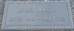 Esther <I>Rohr</I> Bartels