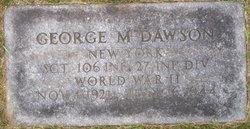 Sgt George M. Dawson