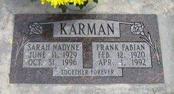 Sarah Nadyne <I>Gordon</I> Karman