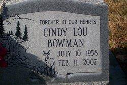 Cindy Lou <I>Witherell</I> Bowman
