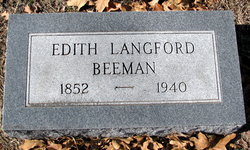"""Edith """"Eady"""" <I>Langford</I> Beeman"""