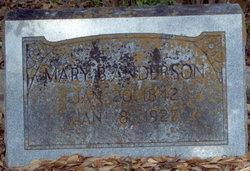 Mary Bunyan <I>Pittman</I> Anderson